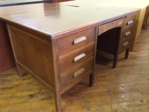 The desk we gave away was similar to this vintage teachers desk.