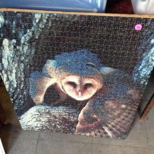 Owl Puzzle, Mounted