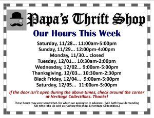 Hours - Week of 11 29 2015